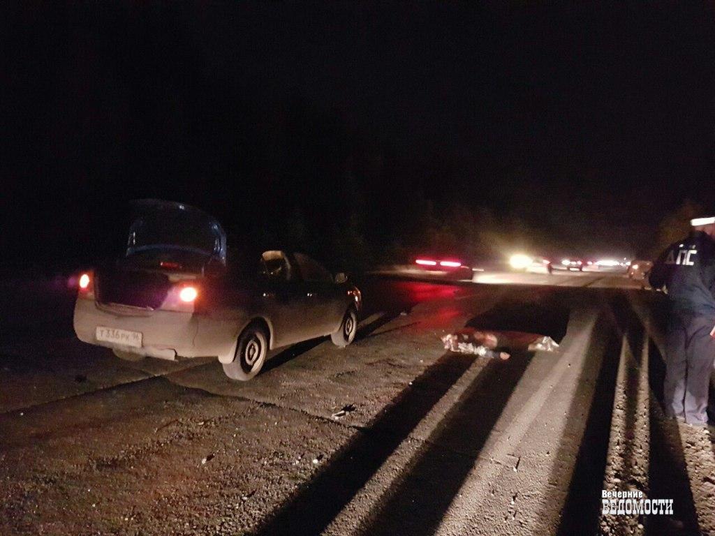 Под Екатеринбургом 61-летний пешеход сбит насмерть автоледи наиномарке