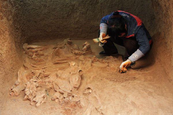 Старинную гробницу отыскали археологи в основном КНР