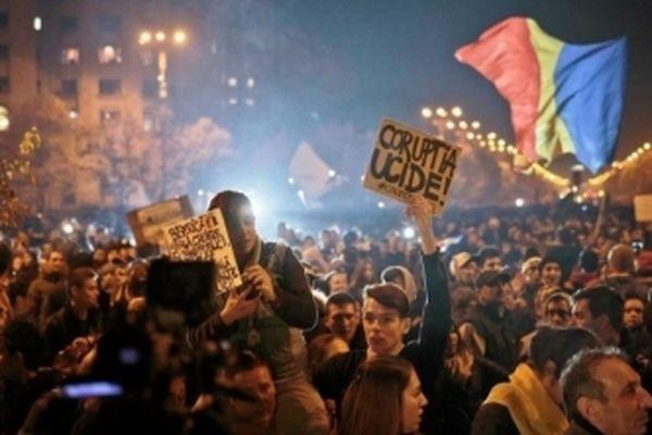 ВРумынии десятки тыс. человек вышли намитинги