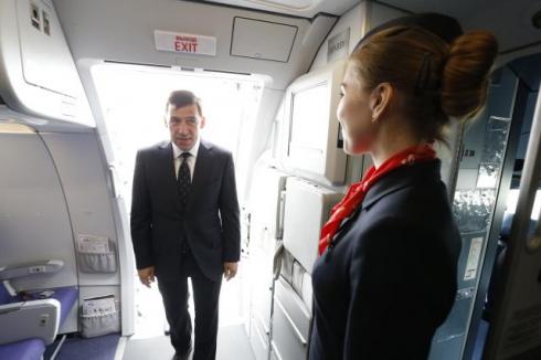 Евгений Куйвашев почувствовал себя пилотом Airbus A321