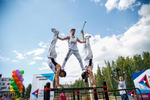 На Урале РМК открыла 10 воркаут-площадок