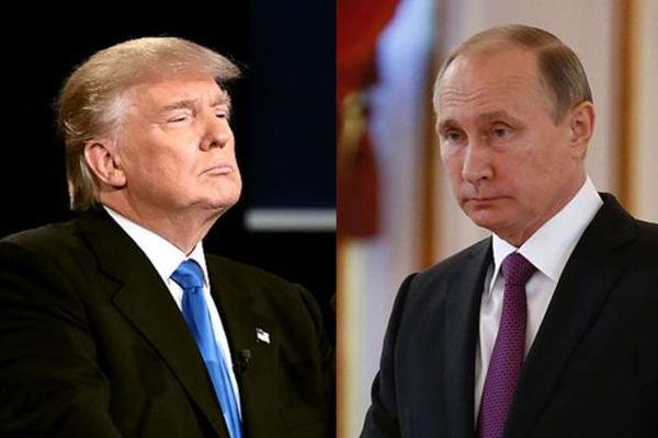 Размещено видео начала первой встречи Владимира Путина иТрампа