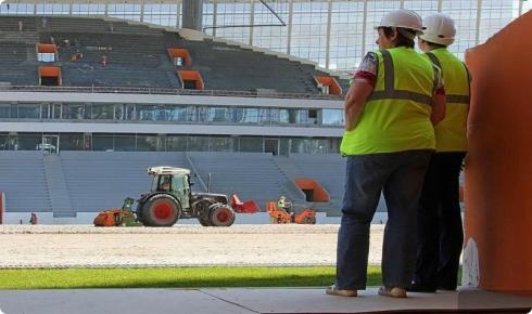 Центральный стадион готов к приему гостей на 75 %