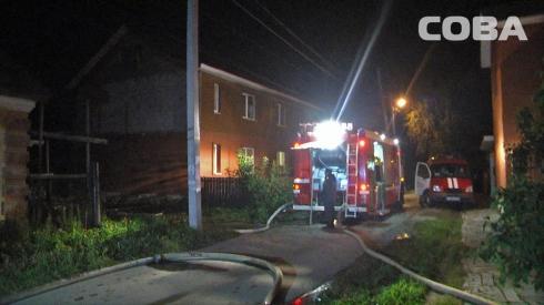 Накануне вечером в переулке Северский сгорел частный дом