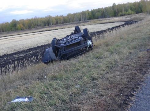 На зауральской трассе лихач погиб в ДТП с «перевертышем»
