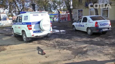 На остановке в Екатеринбурге задержали мужчину с ружьем