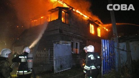 При пожаре в частном доме на улице Коммунальной погибла семейная пара