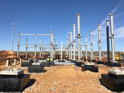 Фундамент фабрики на Томинском ГОКе готов