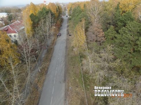 В городском парке Среднеуральска вырубили деревья
