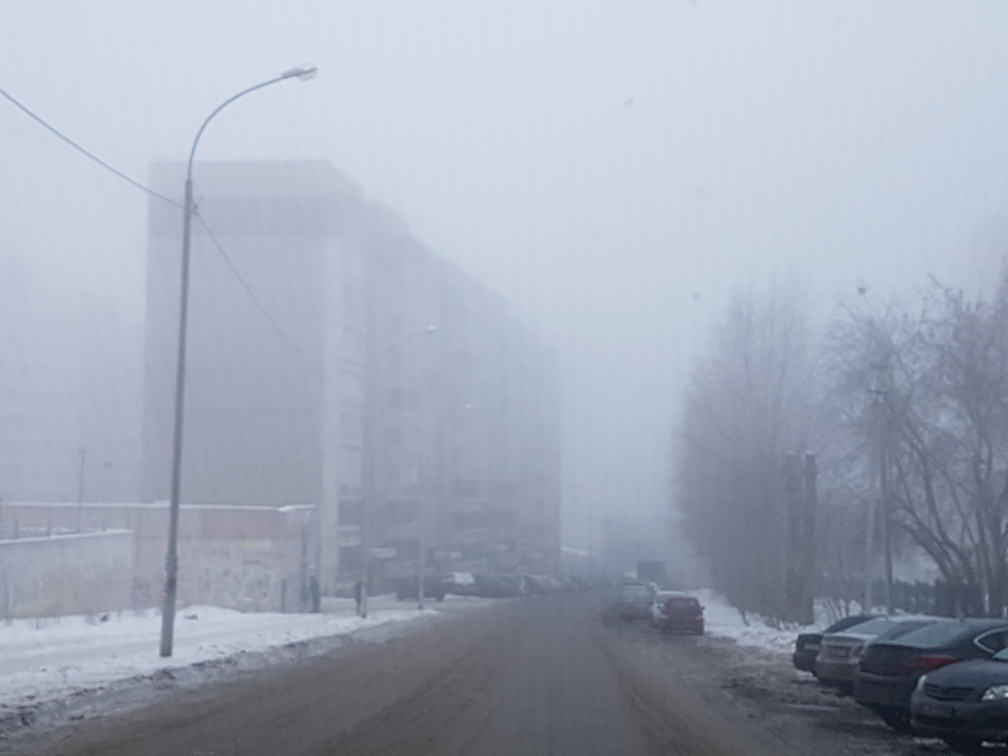 В Екатеринбурге туман и теплая погода