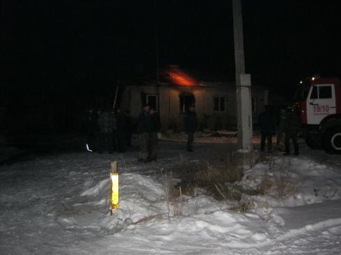 При пожаре в селе Новоипатово погибли отец и трое детей