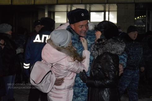 На Урал после полугодовой командировки вернулся сводный отряд свердловского гарнизона полиции