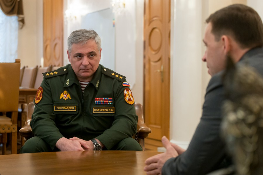 Губернатору представили нового командующего Уральским округом войск национальной гвардии