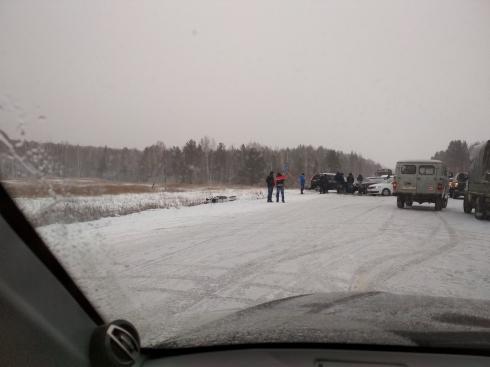 На Серовском тракте столкнулись шесть машин
