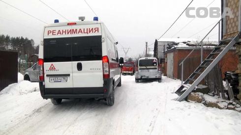 В Екатеринбурге при пожаре в частном доме пострадала двухлетняя девочка