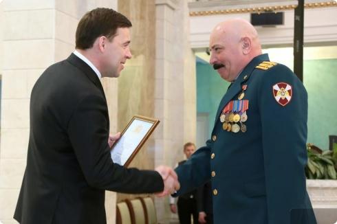 Евгений Куйвашев провел торжественный прием в честь Дня защитника Отечества