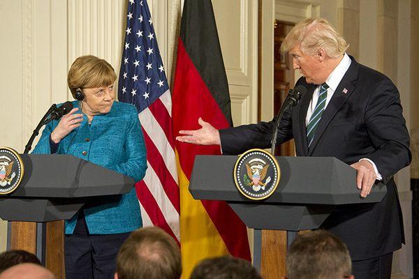 Трамп, Макрон иМеркель обсудили заявления В. Путина  оновом ядерном оружии