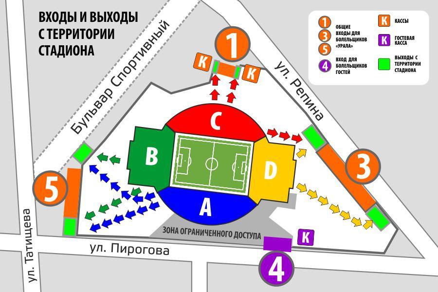 Урал обнародовал инструкцию для болельщиков, как попасть на«Екатеринбург Арену»
