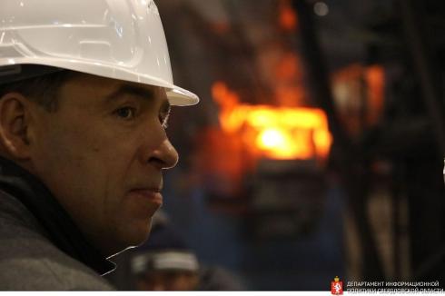 Губернатор Свердловской области запустил в эксплуатацию новый плавильный комплекс в Кушве