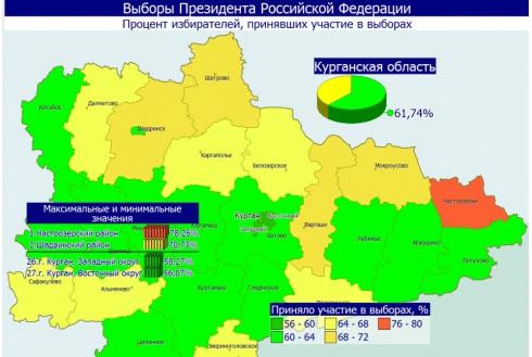 Избирком Зауралья предоставил предварительные итоги голосования
