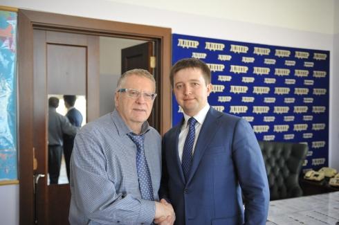 Политик Владимир Жириновский принимает поздравления с днем рождения