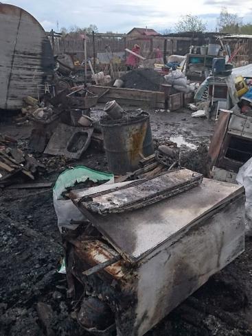 В Билимбае сгорел приют для собак. Несколько животных погибло