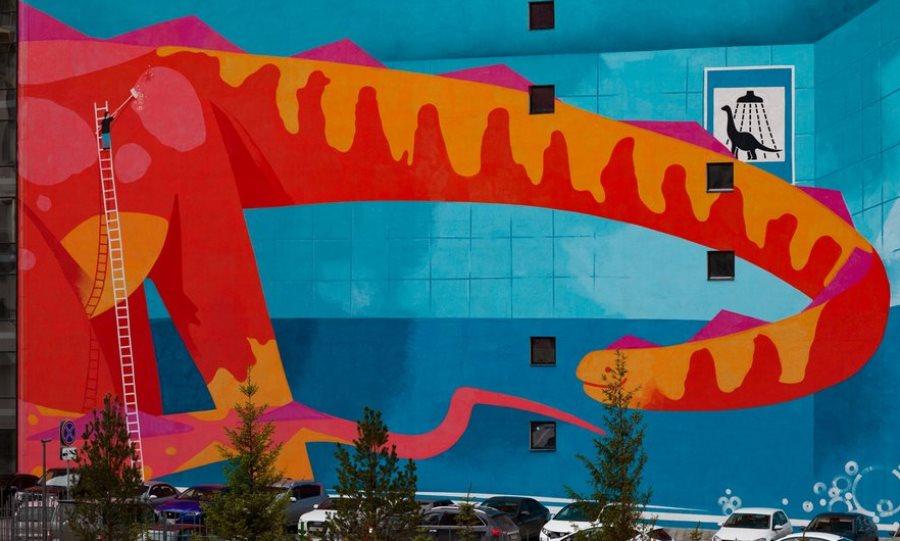 Мойка динозавров появилась в одном из дворов Екатеринбурга