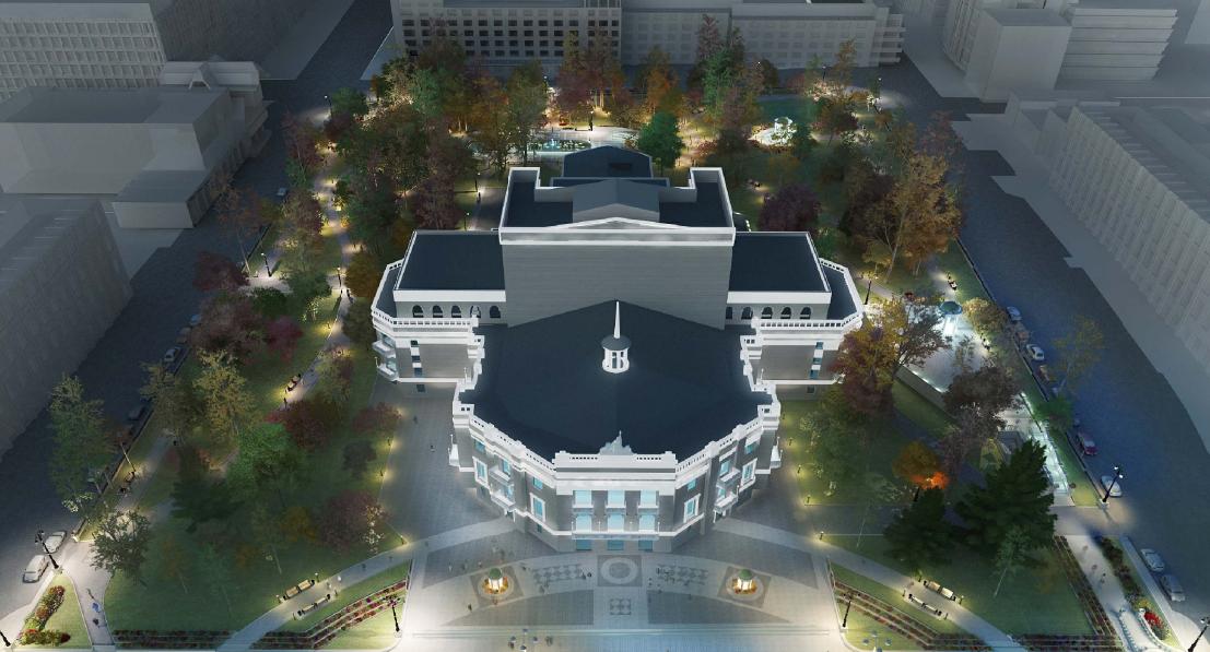 Благоустройство сквера у оперного театра завершат в 2019 году