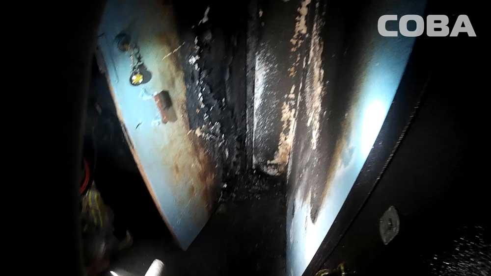В подъезде дома на  улице Советской произошел пожар из-за стиральной машины