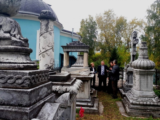 В Екатеринбурге восстановят семейный некрополь купцов Телегиных