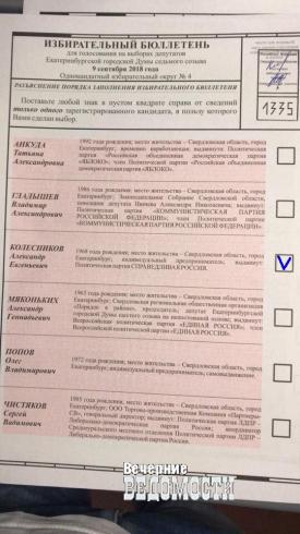 Екатеринбургский коммунальщик на выборах в гордуму обгоняет члена «списка Тунгусова»