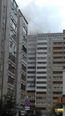 При пожаре из многоэтажки на Серова эвакуировали 65 человек