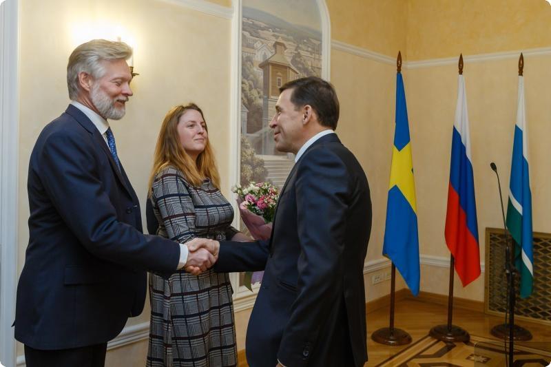Евгений Куйвашев встретился с послом Швеции в РФ Петером Эриксоном