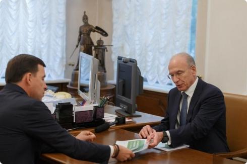 Евгению Куйвашеву презентовали проект укрупнения Сбербанка на Урале