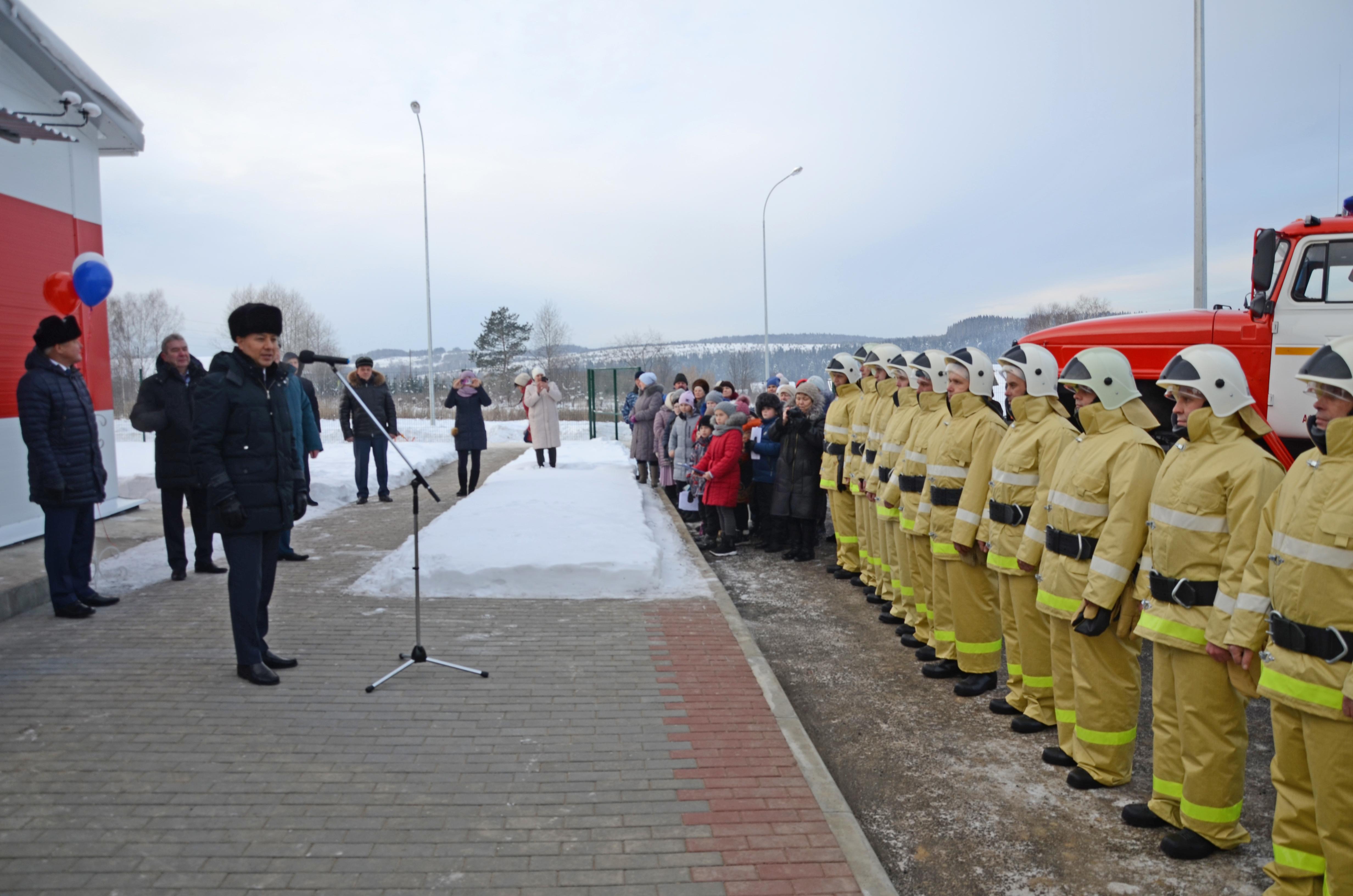В Свердловской области открыли новое пожарное депо