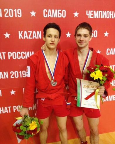 Самбисты из Екатеринбурга взяли серебро и бронзу на чемпионате России