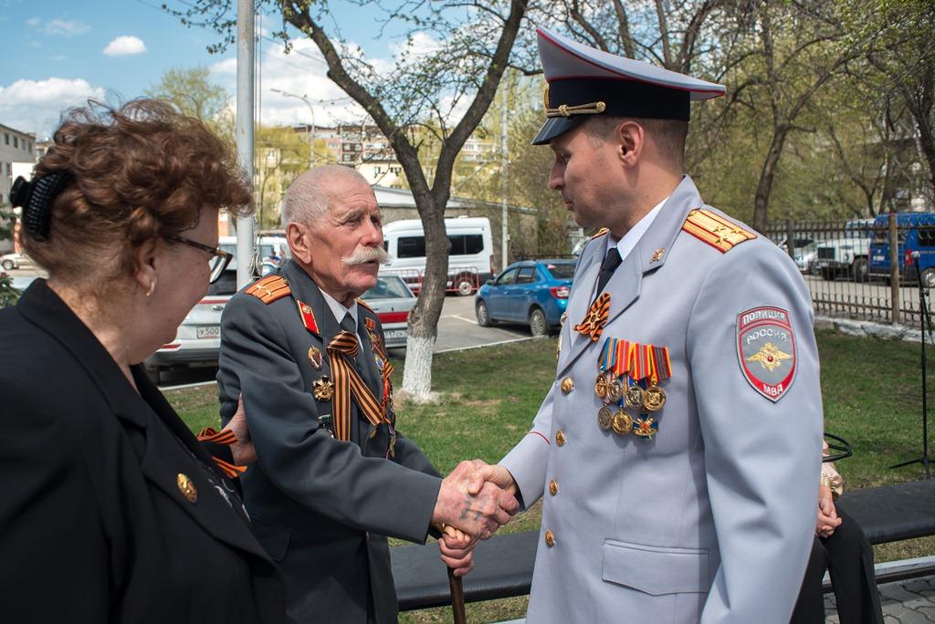 В екатеринбургском УМВД прошли торжественные мероприятия, посвященные Дню Победы