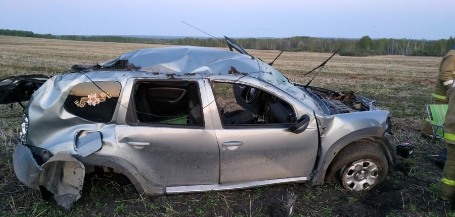 ДТП под Ирбитом: водитель уснул за рулём и перевернулся