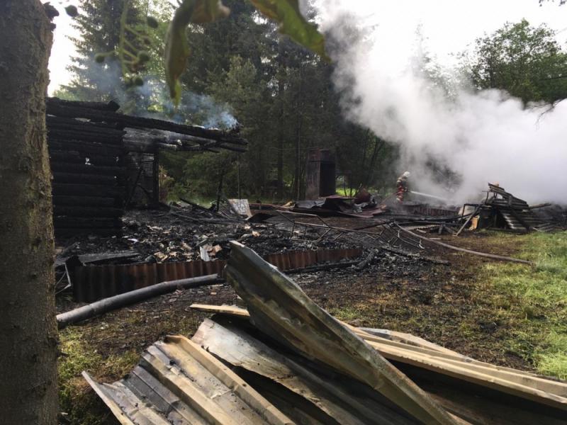 В пожаре под Нижним Тагилом погибла семья из трёх человек, в том числе ребёнок