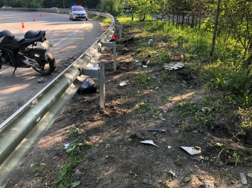 В Екатеринбурге в результате ДТП водитель мотоцикла впал в кому