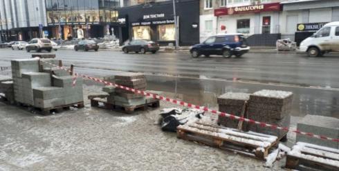 Екатеринбург не успели благоустроить до выпадания снега