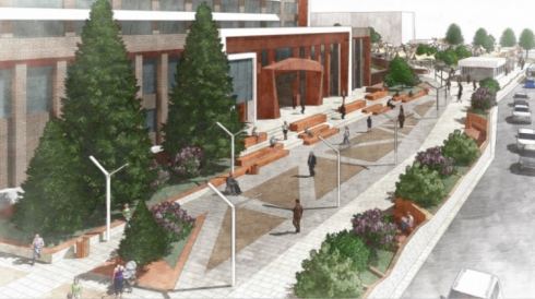 Архитекторы планируют создать «пешеходный оазис» на площадке перед УрГЭУ