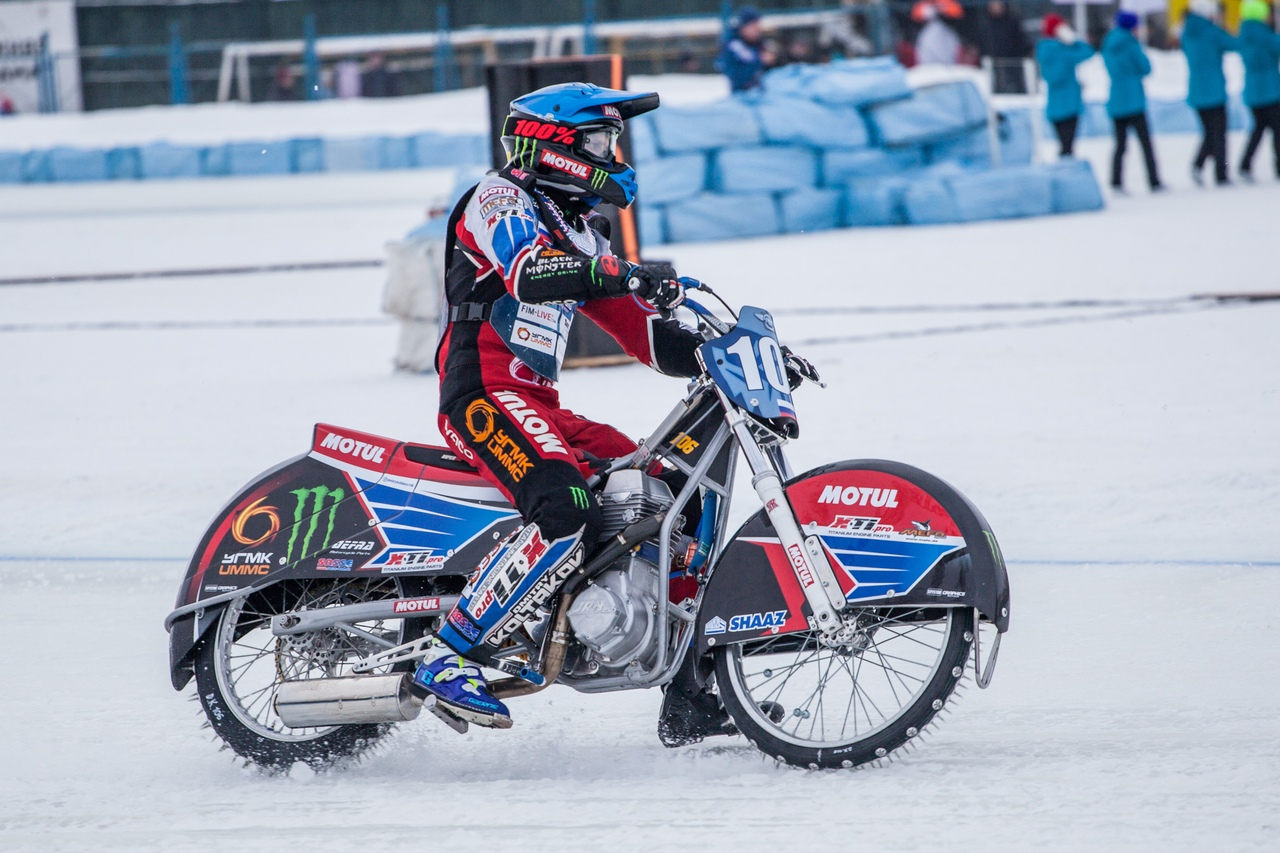 Финал личного чемпионата мира по мотогонкам на льду собрал в Шадринске сильнейших гонщиков планеты