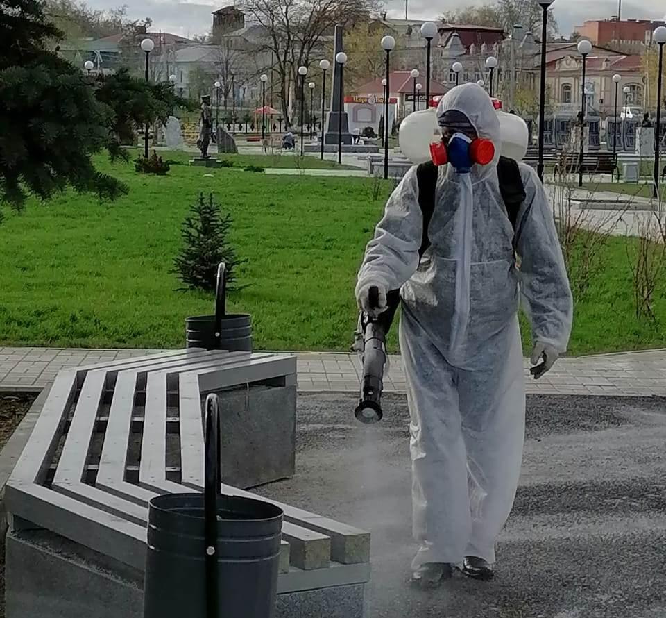 В Свердловской области дезинфицируют общественные места
