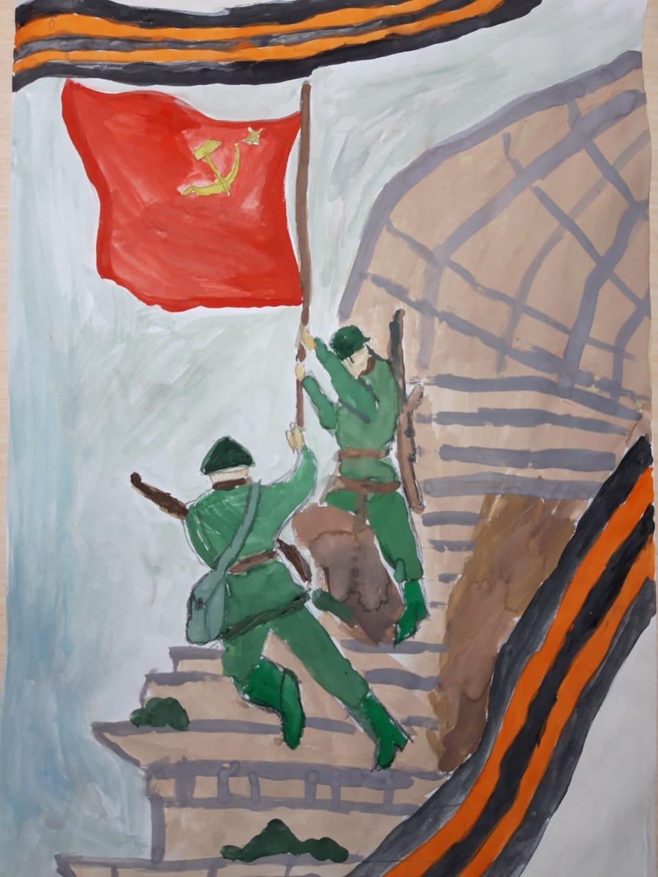 Дети сотрудников свердловского антикоррупционного департамента присоединились к поздравлениям ветеранам с Днем Победы