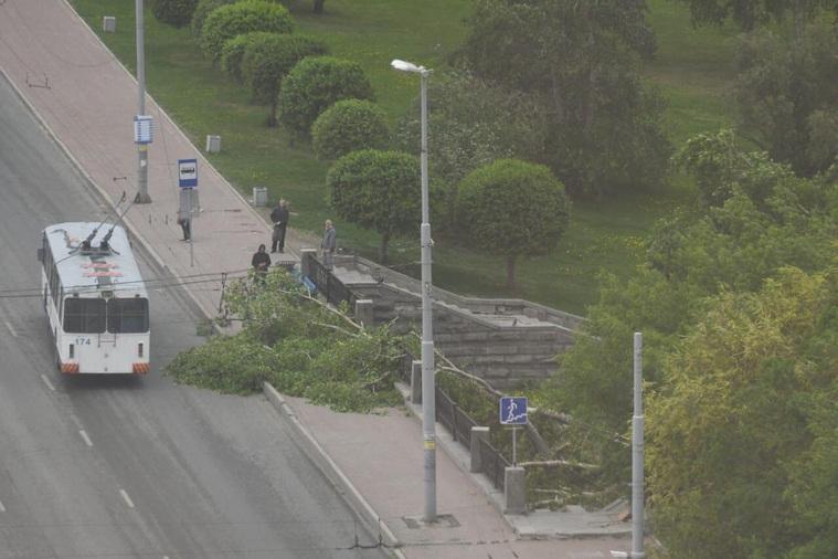 В Екатеринбурге прошел сильный ураган