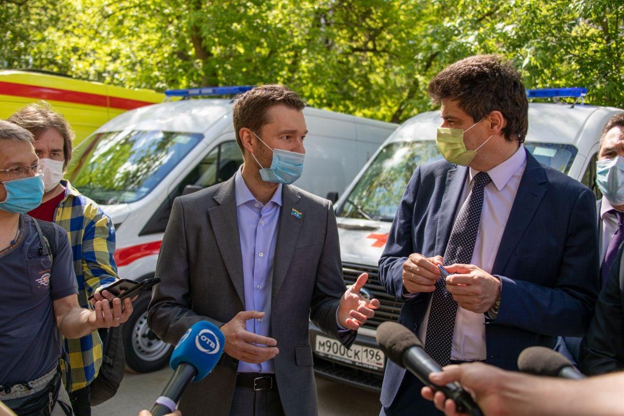 В Екатеринбурге пополнили автопарк станции скорой помощи для перевозки больных коронавирусом