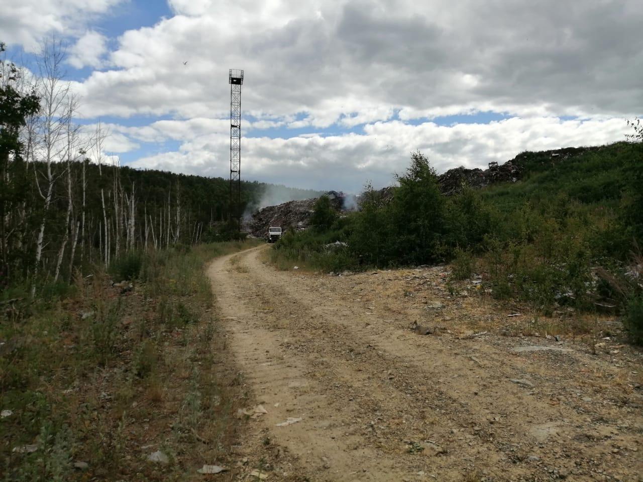 После возгорания полигона ТБО в Новоуральске Росприроднадзор проверит местный МУП
