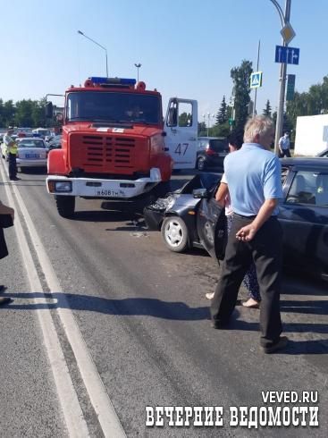 В Первоуральске произошло ДТП с участием пожарной машины